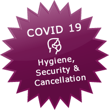 Safety regulations, hygienic standards and cancellation conditions